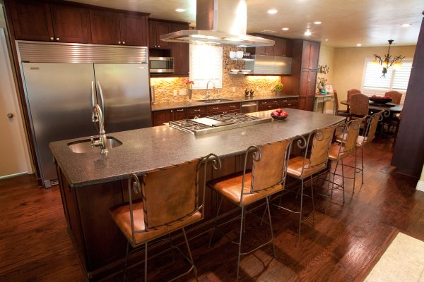 solid wood cabinets in alder with medium stain