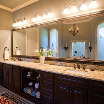 double vanity bath cabinets with open cubby