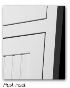Example framed inset flush door