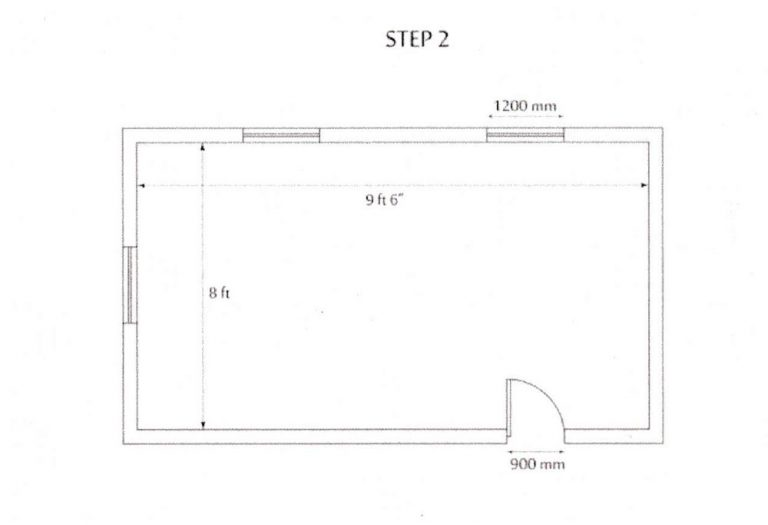 how to measure kitchen step2