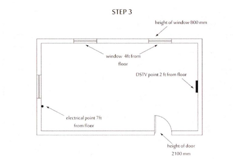 how to measure kitchen step3